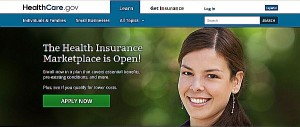 Launch of the federal government's Obamacare website